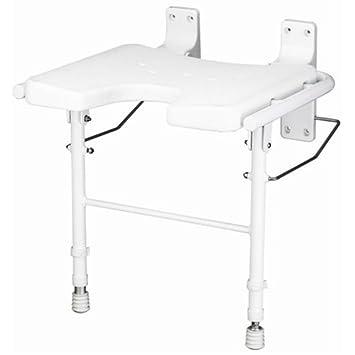 Amazon.com: Bathroom 365 Wall Mounted Shower Chair: Health ...