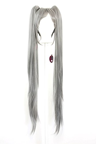 40/'/' Wavy Pig Tails Base Flaxen Blonde Cosplay Wig NEW