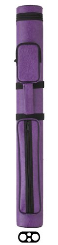 Action Vinyl Pool Cue Case (2 Butt and 2 Shaft), Purple