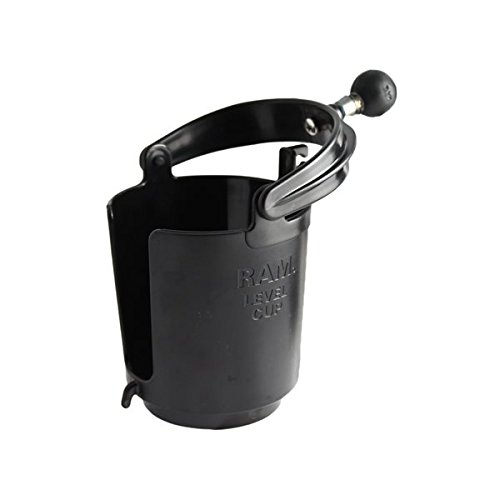 RAM MOUNTS Self-Leveling Cup Holder with 1-Inch Ball and Cozy, Black ()