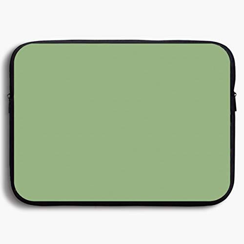 - Neoprene Laptop Sleeve Bag Asparagus Solid Color Water-Resistant Neoprene Notebook Computer Pocket 13-15 Inch Notebook Tablet IPad Tab