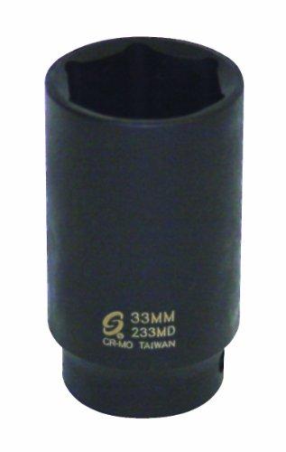 33mm Deep Impact Socket - Sunex 233MD Sunex 233MD 1/2-Inch Drive 33mm Deep Impact Socket