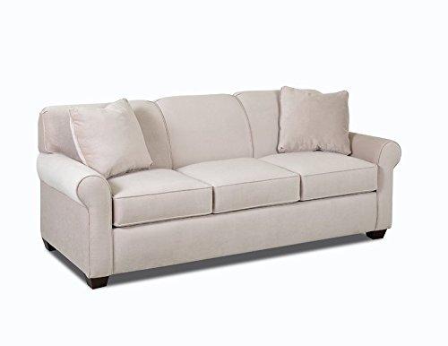 Klaussner Mayhew Sofa, Belsire Buckwheat Fabric
