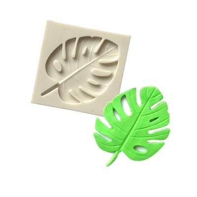 - 1 piece PRZY Monstera Leaf Silicone Mold Sugarcraft Molds Cake Decorating Tools resin clay Mould Fondant Chocolate moulds