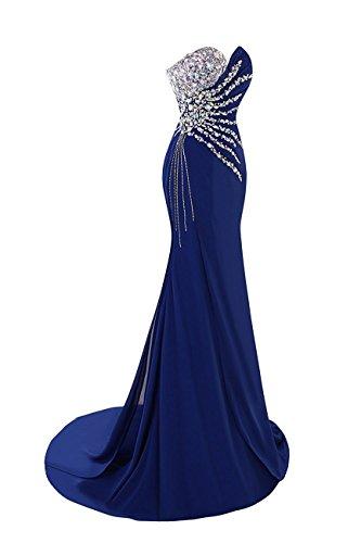 Perline Senza Sposa Rosso Sera Cristallo Dresses Sirena Spalline Prom Abiti Da Di Xingmeng Da aqnTtx8Z