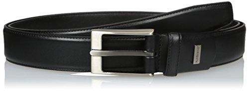 Van Heusen Men's Big-tall Men's Big And Tall Single Stitch Stretch Leather Belt, black, 50 (Mens Leather Vans Belt)