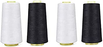 8 Pack of 6000 Yard Each Spool Sewing Thread All Purpose 100/% Spun Polyester Overlock Cone Serger Cone Thread Upholstery, Canvas, Drapery, Beading, Quilting,Serger,Over Lock, Merrow, Single Needle