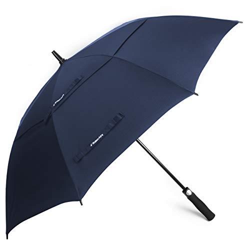 ZEKAR 54/62/68 inch Windproof Golf Umbrella, Large Rain Umbrellas, Vented Double Canopy Waterproof Stick Umbrella, Three Sizes
