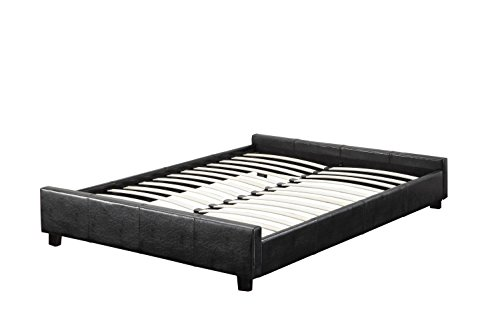 Furniture of America Medina Leatherette Bed Frame, Queen Size, Espresso