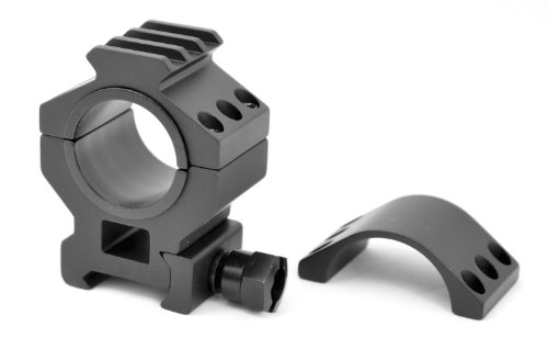 TMS Heavy Duty Tactical Scope Rings with Picatinny Accessory Rail Medium Height