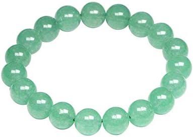NOBRAND Piedras Naturales Energía Material Verde Aventurina Pulsera Cuentas Redondas Donglin Jade Brazalete Cuarzo Cristal Joyas Amor Regalo