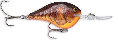 Rapala Dives-To 04 Fishing lure, 2-Inch, Dark Brown Crawdad