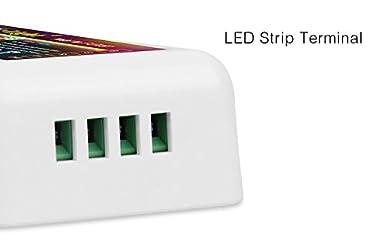 Longzhuo L/ámpara de Fibra /óptica 12W RGBW LED Kit de l/ámpara de Techo de Fibra /óptica /óptica Motor de luz con Control Remoto