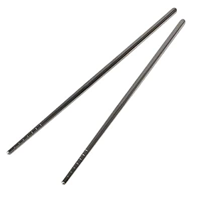 Household Non-slip Thread Stylish Design Stainless Steel Chopsticks by uGen! Perfect Home Kitchen Baking Cooking Tools, Accessories & Gadgets for you!