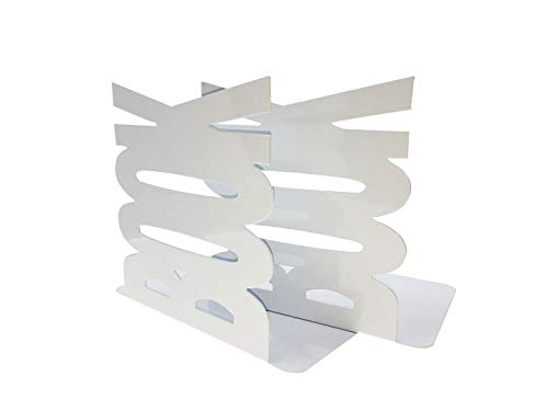 Ahkea Book Modeling Bookends Kids Children Bedroom Library School Office (White) by Ahkea