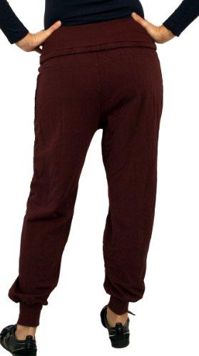 0350Perano Mujeres, las niñas sweat-harem pantalones, algodón, beige, marrón, verde, negro, rojo, blanco, azul, tamaño de uno, Nuevo. granate