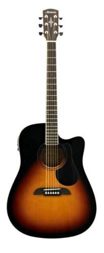 Alvarez Regent RD26CESB Dreadnought Acoustic-Electric Guitar Sunburst/Gloss (Acoustic Alvarez Electric Guitar)