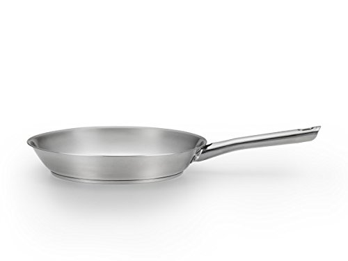 T-fal E76005 Performa Stainless Steel Dishwasher Safe Oven Safe Fry Pan Saute Pan Cookware, 10.5-Inch, Silver