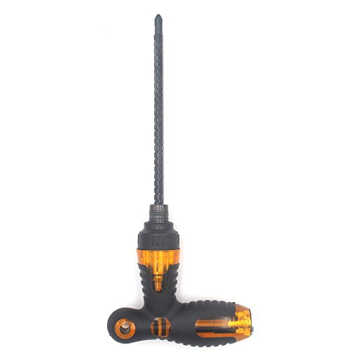 T Shape Screw Driver, Magnetic 2 In 1 Cross Tip and Flat Tip ()