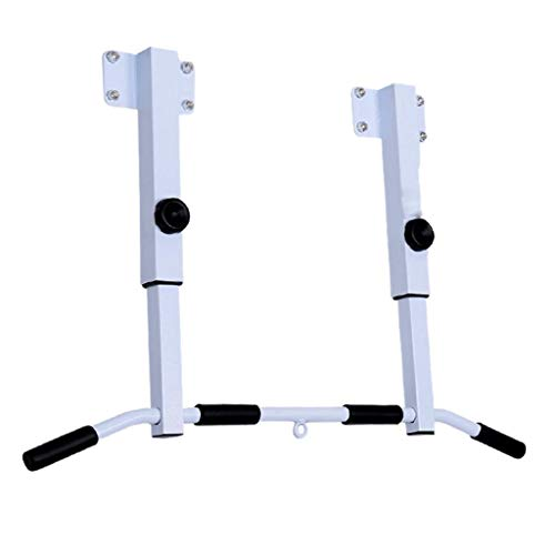 Pull-up Bars Pull-ups Wall Double Single-Pole Pull-ups Multi-Function Gym Pull-ups Home Fitness Equipment Indoor Single-bar Parallel Pull-ups (Color : White, Size : 97x17x75cm)
