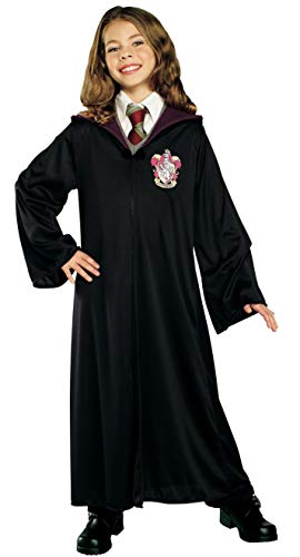 Rubie's 884253-M Costume Co Harry Potter Child's Hermione Granger Gryffindor Robe, Medium, Black -