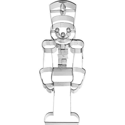 - rbv birkmann Cookie Cutter Nutcracker Size XXL/18.5 cm, Stainless Steel, Silver, 18.4 x 6.8 x 2.4 cm