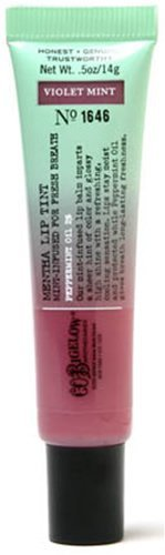 C.O. Bigelow Mentha Lip Tint Violet Mint Formula No 1646 DISCONTINUED STLE GREEN & VIOLET TUBE AS PICTURED