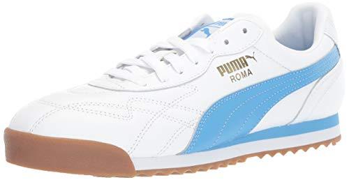 (PUMA Men's Roma Anniversario Sneaker, White-Azure Blue, 7.5 M US)