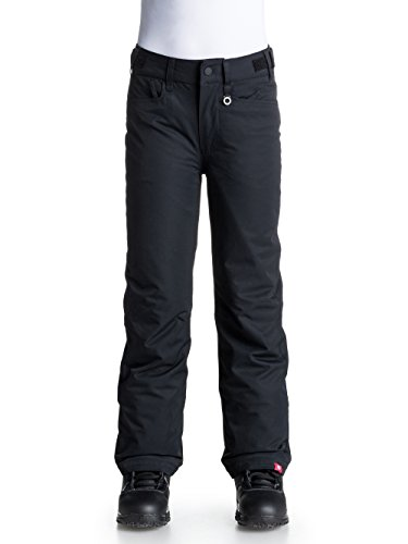 Roxy girls Roxy Girls Backyard Bib Waterproof Ski Snowboard Pants, Black Anthracite Age 12 - Waist 25'' by Roxy