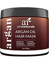 Art Naturals Argan Oil Hair Mask 237ml- Infused with 100% Organic Jojoba Oil, Aloe Vera & Keratin by Art Naturals