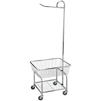 44d5be8f622 Artesia 5187033 Verona Collapsible Metal Laundry Cart with Removable Basket     Canvas Bag
