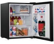 2.7 cubic foot compact dorm refrigerator – Black