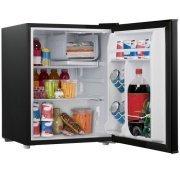 2.7 cubic foot compact dorm refrigerator (Black)