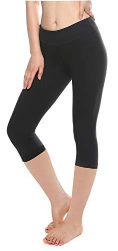 (KT Buttery Super Soft Leggings for Women - Full Length Lightweight Leggings - Casual Solid Leggings Pants with Plus Size (Plus Size, Capri Black))