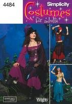 Dance Costume Patterns (Simplicity Pattern 4484 Elaine Hegl Misses' Gypsy, Belly Dance Costumes, RR (14-16-18-20))