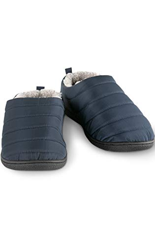 Addison Meadow Cozy Women Slippers - Puff Scuff Ladies Slippers, Navy, L, 10-11 ()