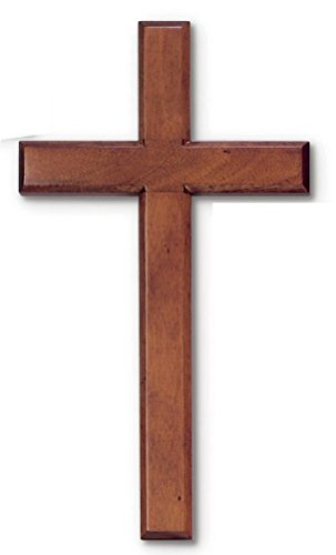 Wood Solid Mahogany Wall Cross 8