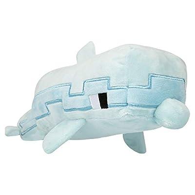 "JINX Minecraft Adventure Dolphin Plush Stuffed Toy, Gray, 13.75"" Long"
