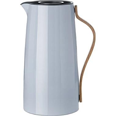 Stelton 1.2 Litre Stainless Steel/ Beechwood/ ABS Plastic Emma Coffee Vacuum Jug, Blue Tone