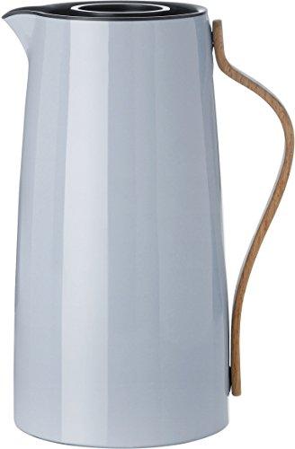 Stelton 1.2 Litre Stainless Steel/ Beechwood/ ABS Plastic Emma Coffee Vacuum Jug, Blue ()