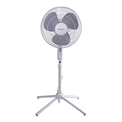 """CCC COMFORT ZONE CZST161BTE 3-Speed 16"""" Oscillating Pedestal Fan with Folding Base and Adjustable Height and Tilt"""