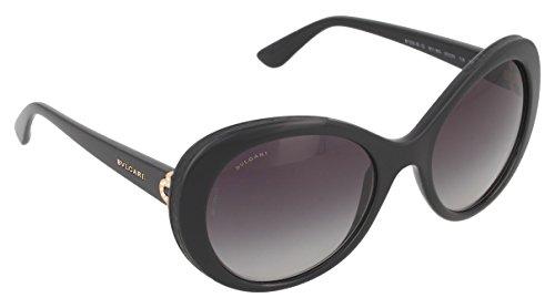 Bvlgari Sunglasses 8159-B-Q 901/8G 55x20 Shiny Black / Grey - B&q Sunglasses