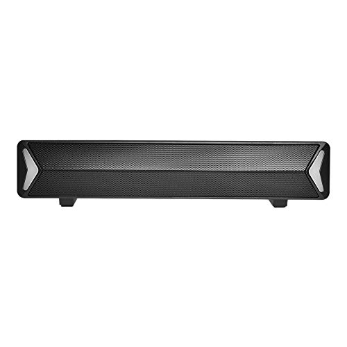 Binchil TV Sound Bar AUX USB Wired and Home Theater FM Radio Surround Sound Bar for PC TV Speakers