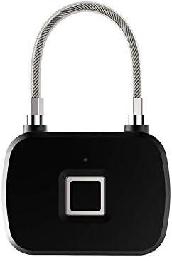 GXWLWXMS 指紋南京錠、スマートロック盗難防止ロングスタンバイ電子南京錠、スーツケースバックパックジム用充電式USB