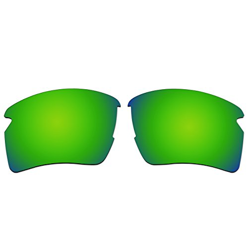 Replacement Polarized Lenses for Oakley Flak 2.0 XL Sunglasses (Emerald Green Mirror, Emerald Green - Green Sunglasses Oakley Lenses