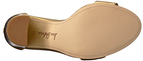 metallic Edelman Distressed Sandalias Leather Gold Bright Con Para Cuña Sam Yaro Mujer gqznUCH
