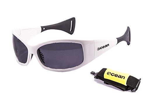 Verres Laqué Mentaway Sunglasses Soleil 1111 Blanc polarisées Monture 3 de Ocean Lunettes Fumée pHqwwz