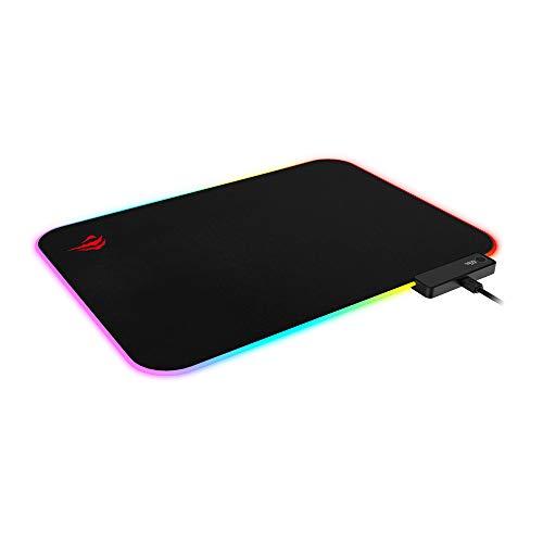 Mouse Pad Gamer RGB Havit MP901 Tecido Premium, 10 modos de Iluminação
