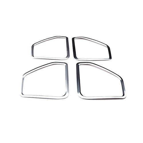 CROTRIM Silver Interior Car Door Speaker Trim Cover 4pcs for Porsche Macan 2014-2017 ShenzhenBoXi