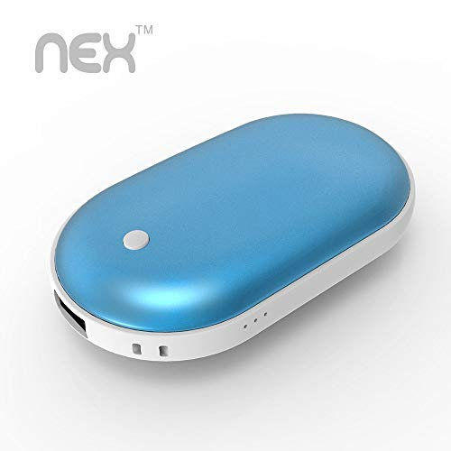 NEX Rechargeable Hand Warmer, 5200mAh Electric Cordless Hand Warmer, Portable Power USB Charging Port Power Bank, Caring Gifts for Women, Kids and Men